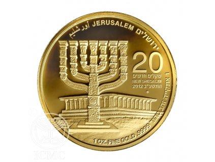 Investiční zlatá mince Menorah-2012