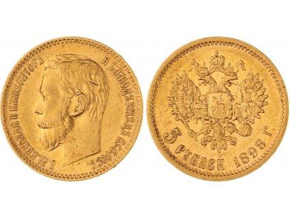 zlatý ruský Pětirubl-car Nikolaj II. 1898