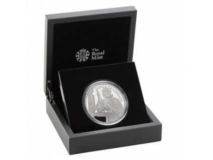 Stříbrná mince série  The tower of london-the yeoman warders 2019 Silver Proof 5 Oz