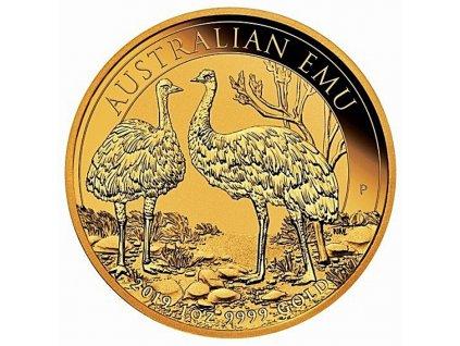 Zlatá investiční mince Emu-Austrálie 2019 1 Oz