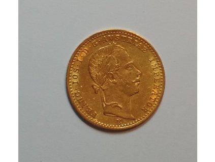 Zlatý dukát Františka Josefa I.-1860 E