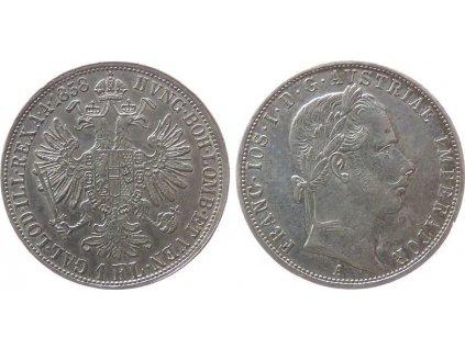 Stříbrný 1 zlatník Františka Josefa I. 1858 A