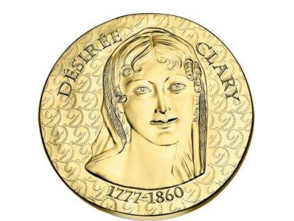Zlatá mince Desiree Clary 2018 proof