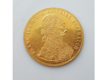 Zlatý 4 dukát Františka Josefa 1914