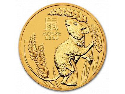Zlatá mince rok krysy 2020 1/4 Oz- lunární série III.