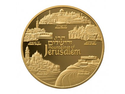 Zlatá mince Mountains of Jerusalem -série Views of Jerusalem 2019 1 Oz