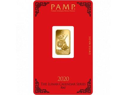 Investiční zlatá cihla PAMP Rok krysy 2020 5g
