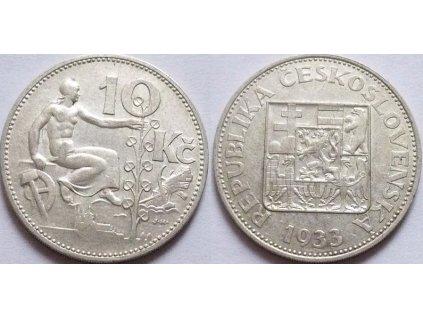 Stříbrná 10 koruna 1932