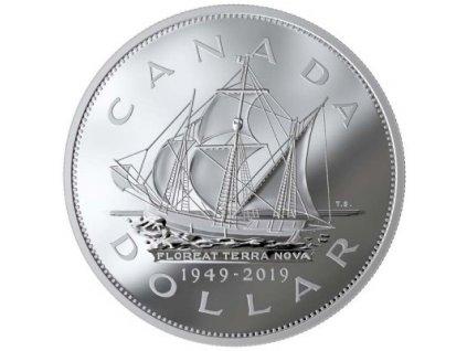 Stříbrná mince 70 .výročí připojení Newfoundlandu 2019-5 Oz proof-Kanada