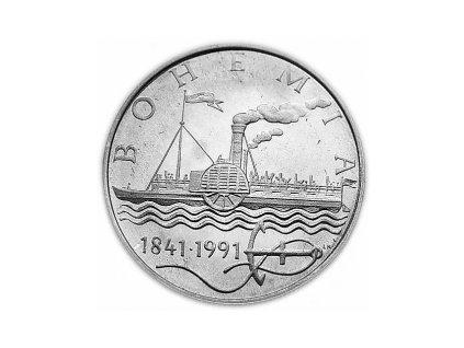 50. koruna 1991 První plavba parníku Bohemia