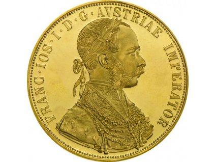 Zlatý čtyřdukát František Josef I. 1915
