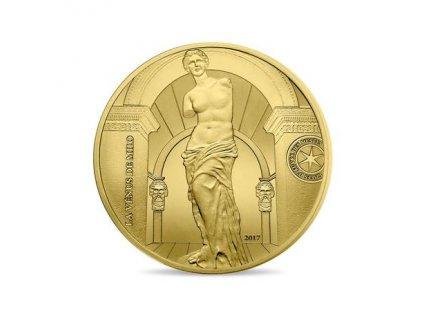 Zlatá mince Venuše Milóská 1 Oz 2017 proof