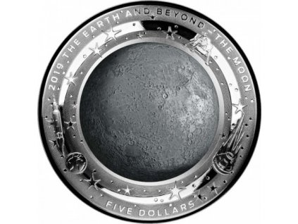 Stříbrná mince THE MOON 1 Oz