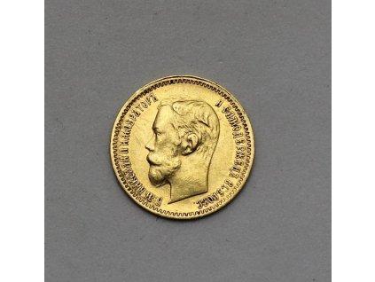 Zlatý 5 rubl1902 AP