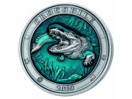 Stříbrná mince Krokodýl 2019 3 Oz