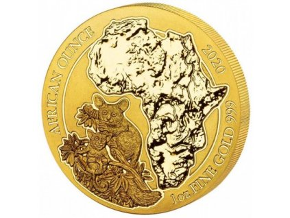 Zlatá investiční mince 1 Oz Rwanda 2020
