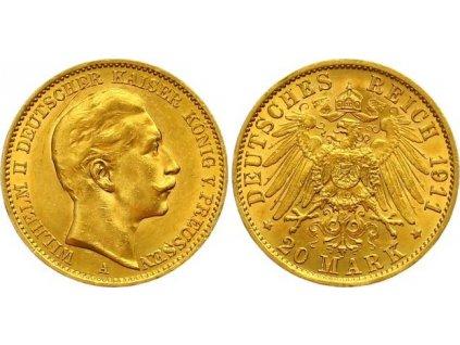 Zlatá 20 marka1911