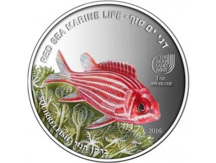 Investiční stříbrná mince Squirrelfish 1 Oz proof