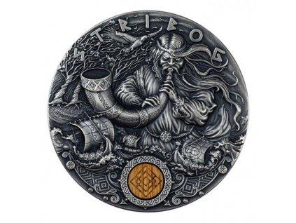 Investiční stříbrná mince Slovanští bohové- STRIBOG 2 Oz
