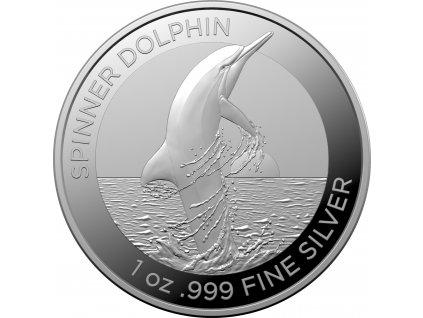 Stříbrná mince delfin 2020