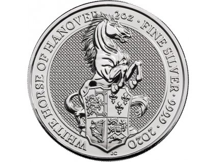 Stříbrná mince Whtie horse of Hanover 2020-2 Oz