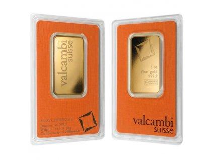 Zlatý investiční slitek Valcambi 1 Oz