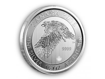 Investiční stříbrná mince sokol sněžný 1 1/2 Oz 2016