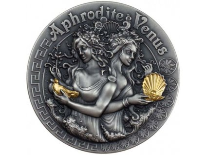 Stříbrná moderní mince Aphrodite Venus 2 Oz 2020