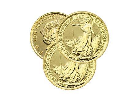 Zlatá investiční mince Britannia 2020 1 Oz