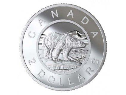 Stříbrná mince Polární Medvěd 2020 proof 110g