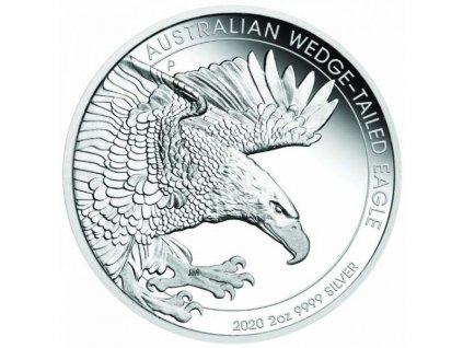 Stříbrná mince Orel Klínoocasý 2 Oz 2020 proof