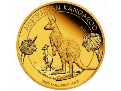 Zlatá mince Australský klokan 2020 proof
