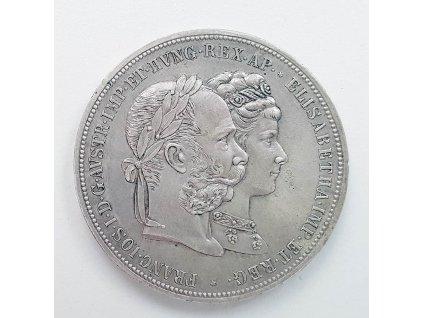 Stříbrný 2 zlatník 1879-výročí svatby