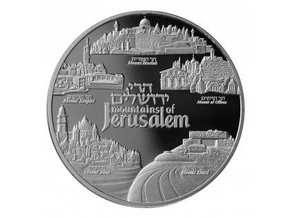 STŘÍBRNÁ MINCE MOUNTAINS OF JERUSALEM 1 OZ 2019-IZRAEL