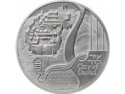 STŘÍBRNÁ MINCE CITY OF DAVID 1 OZ 2018