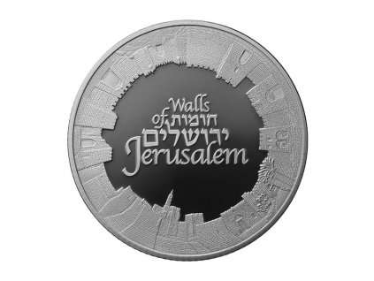 STŘÍBRNÁ MINCE WALLS OF JERUSALEM 1 OZ 2018