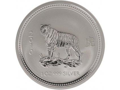 Investiční stříbrná mince rok Tygra 1998 1 Oz lunární série I.