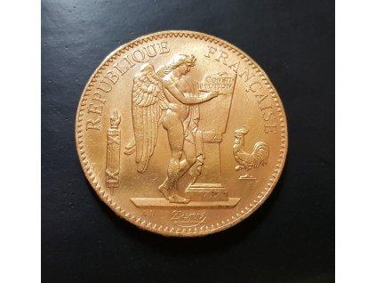 Zlatá mince 100 frank 1906-génius