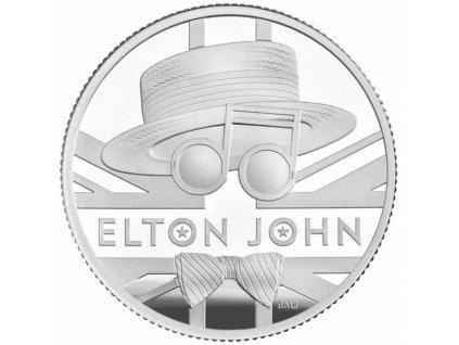 Stříbrná moderní mince Elton John 15.71 g proof 2020