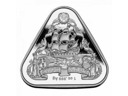 Stříbrná moderní mince Zuytdorp 1 Oz 2020