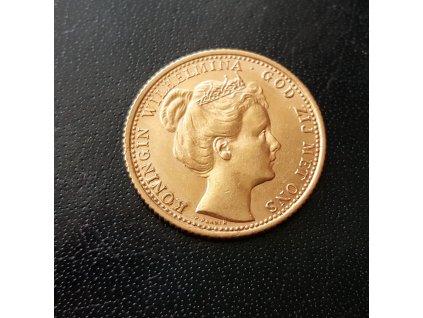 Zlatý 10 gulden Wilhelmina 1898
