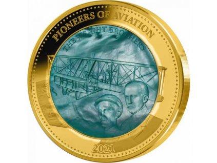 Zlatá moderní mince Pioneers of Aviation 5 Oz 2021 proof
