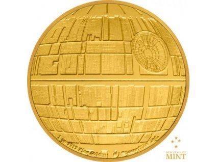 Moderní zlatá mince Death Star 1 Oz proof 2020