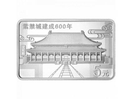 Stříbrná moderní mince The Forbitten City 600. výročí 2020 proof