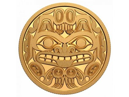 Zlatá moderní mince Bill Reid: Xhuwaji 1 Oz proof 2020