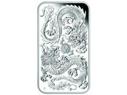 Stříbrná mince Drak 2020 proof 1 Oz