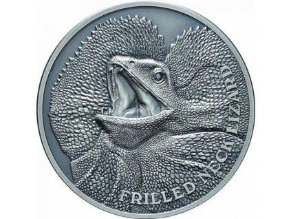 Stříbrná moderní mince Agama Límcová 1 Oz 2020