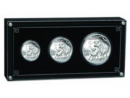 Stříbrný set Rok býka 20201 proof-3,5 Oz