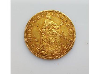 Zlatý dukát Marie Terezie 1865 K.B