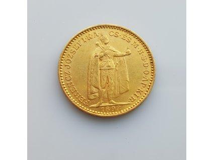 Zlatá 20 koruna 1 898 K.B